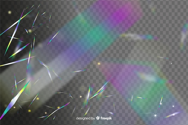 明るいホログラフィック紙吹雪背景 無料ベクター