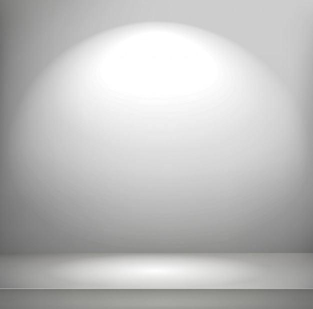 Bright illuminated room Premium Vector