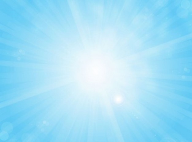 Bright light with beams sky-blue vector background Vector ...