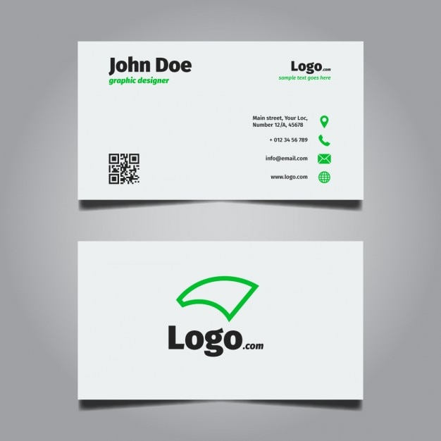 Bright minimal business card design vector free download bright minimal business card design free vector colourmoves