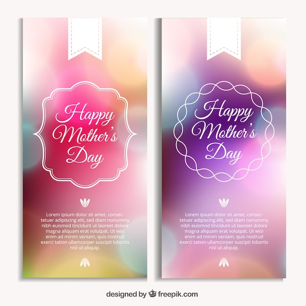 Bright mother\'s day banners