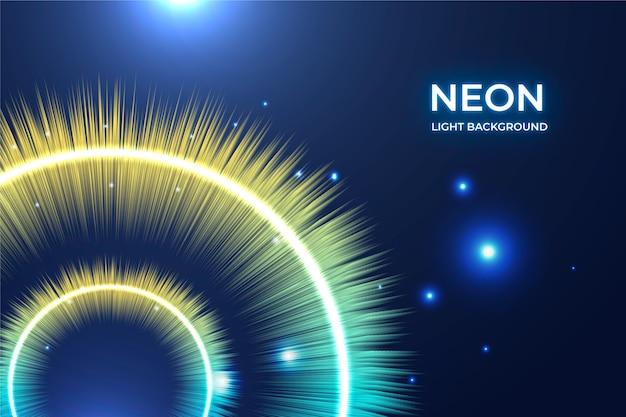 Sfondo di luci al neon luminosi Vettore gratuito
