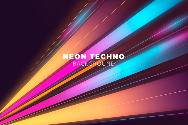 Bright neon lights background Free Vector