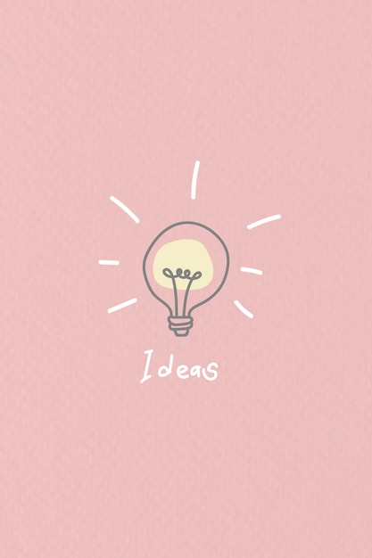 Bright new ideas doodle Free Vector