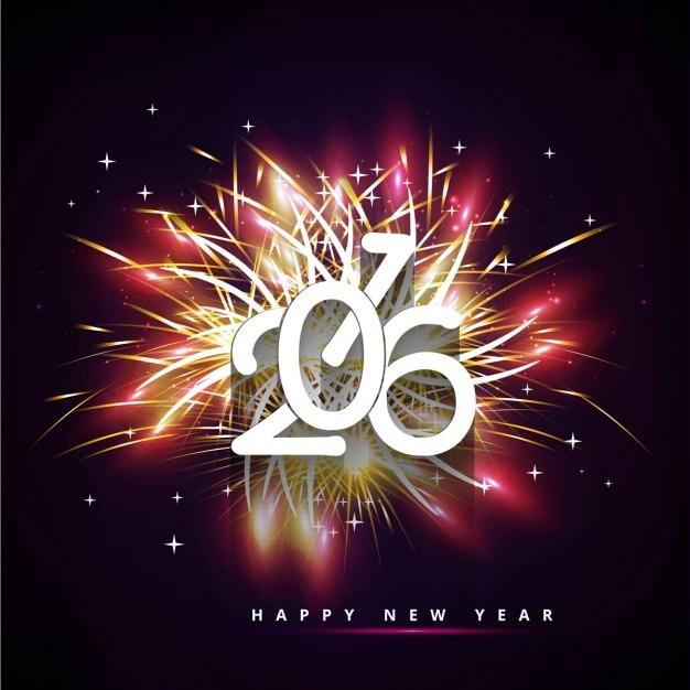 Bright New year 2016 background
