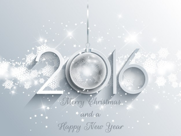 bright new year background in white color free vector