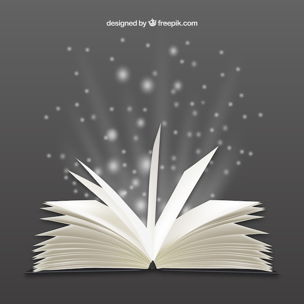Bright open book Premium Vector