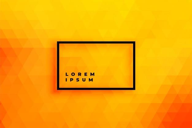Bright orange triangle background Free Vector