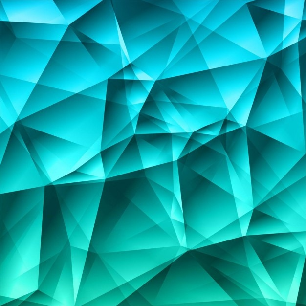 Bright Polygonal Turquoise Background Vector