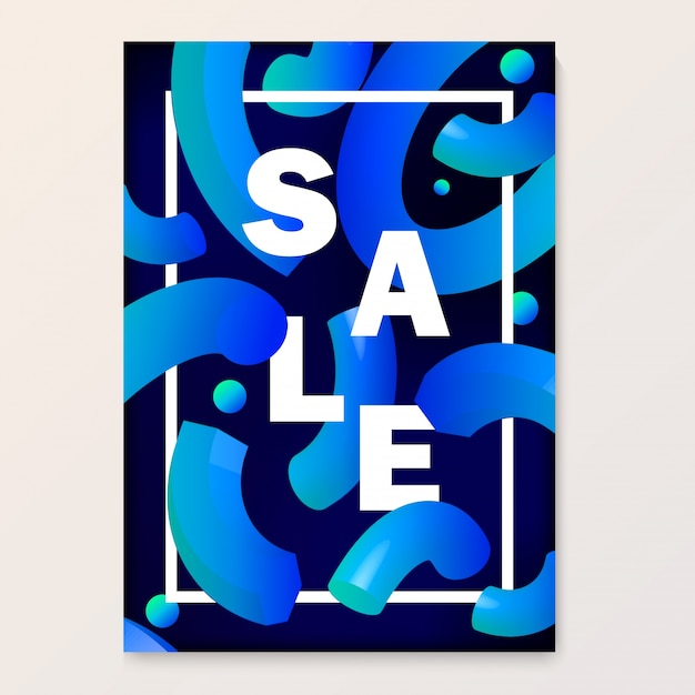 Bright poster for your sales discounts and promotions. Premium Vector