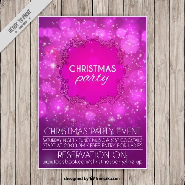 Bright purple christmas party brochure