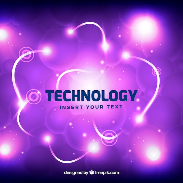 Bright purple technology background