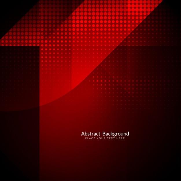 Colore rosso di sfondo poligonale con mezzitoni Vettore gratuito