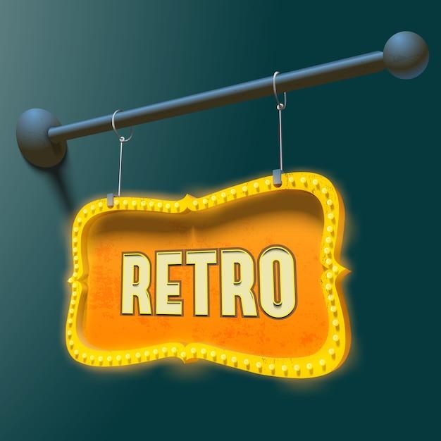 Bright retro signboard Free Vector