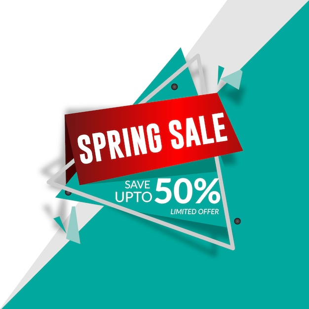 bright sale banner vector free download