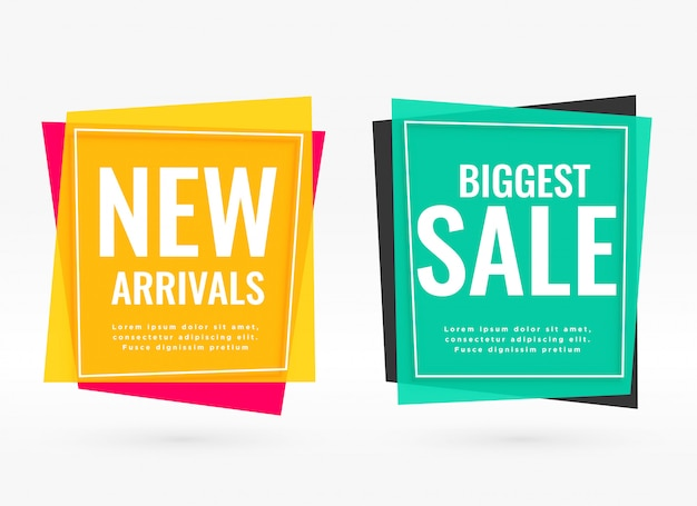 Bright sale banners with text space Free Vector