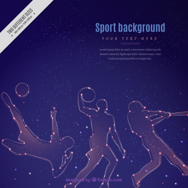 Bright sport silhouettes background