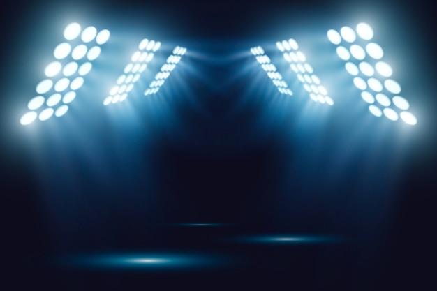 Bright stadium arena lights effect Free Vector