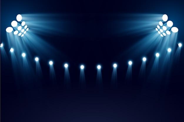 明るいスタジアムライト Premiumベクター