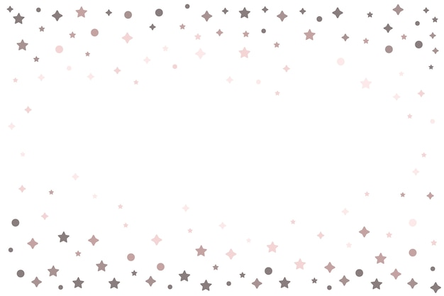 Bright stars frame background design Free Vector