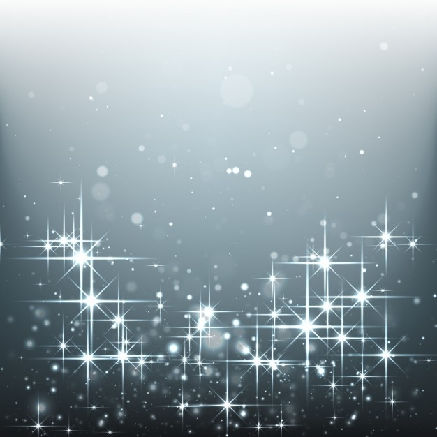 Bright stars on a silver background Free Vector