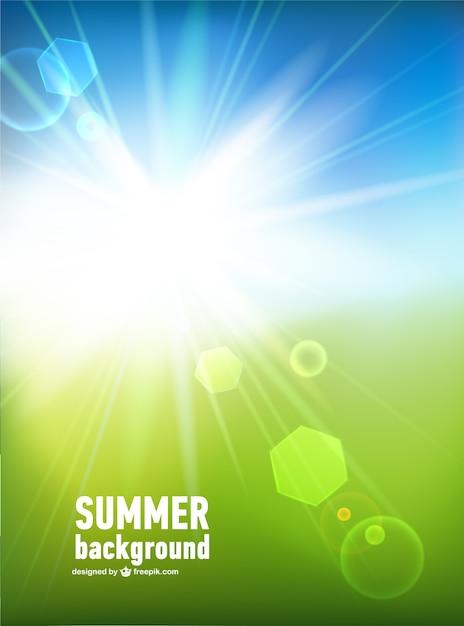 Bright sun ray Free Vector