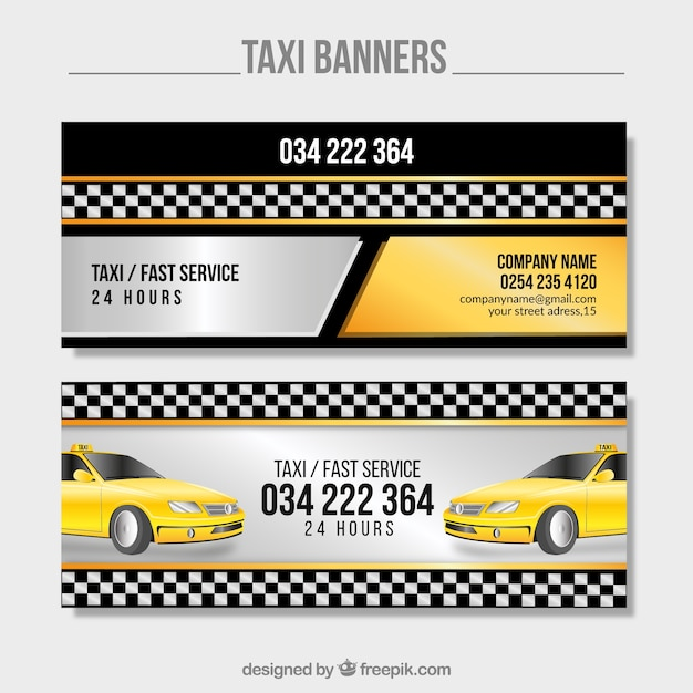 Bright taxis banners