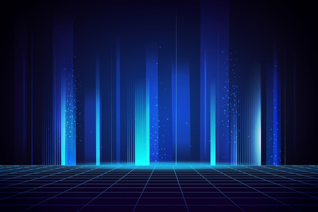 Bright technology background Free Vector