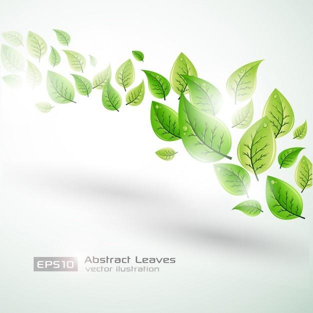 Абстрактные листья backgorund Бесплатные векторы