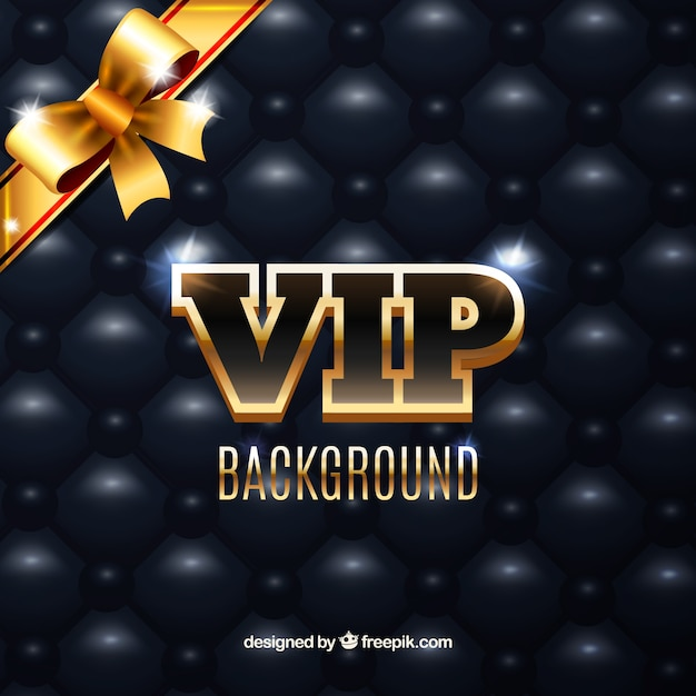 Bright vip background with golden bow