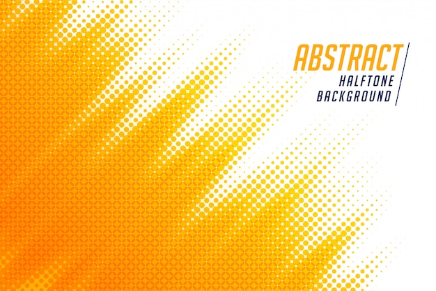 Bright yellow diagonal halftone background Free Vector