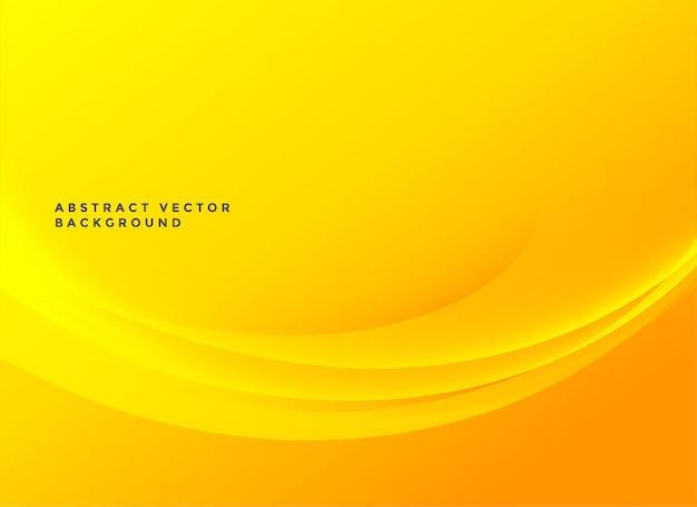 Bright yellow elegant wavy background Free Vector