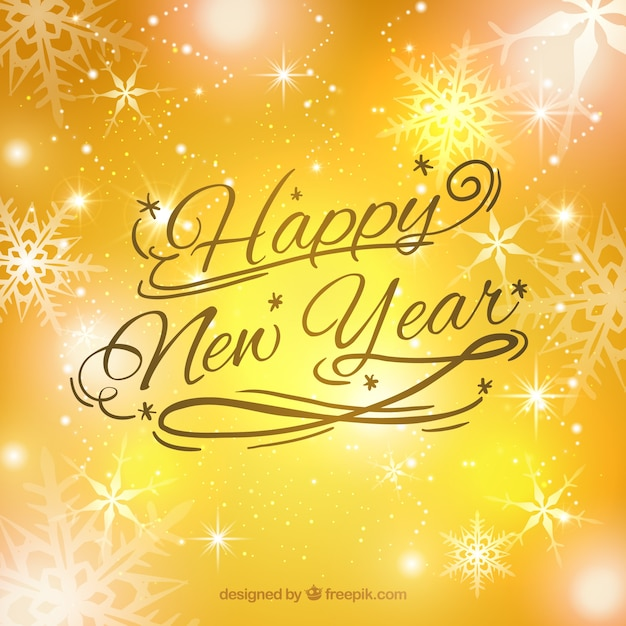 bright yellow new year background free vector