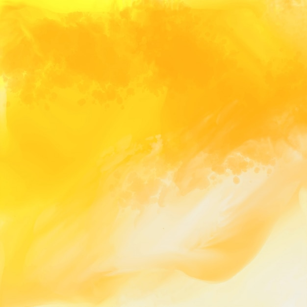 Bright yellow watercolor texture background Free Vector