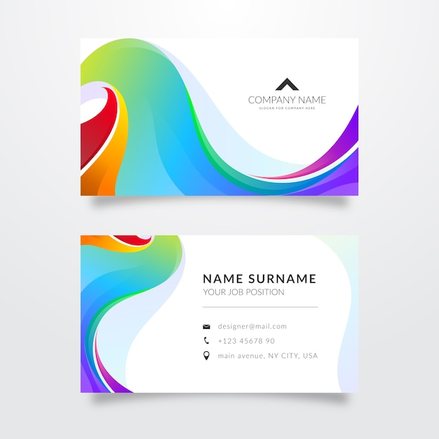 Brilliant abstract business card template Free Vector