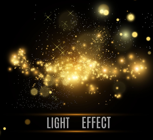 Brilliant gold dust vector shine. glittering shiny ornaments for background. Premium Vector
