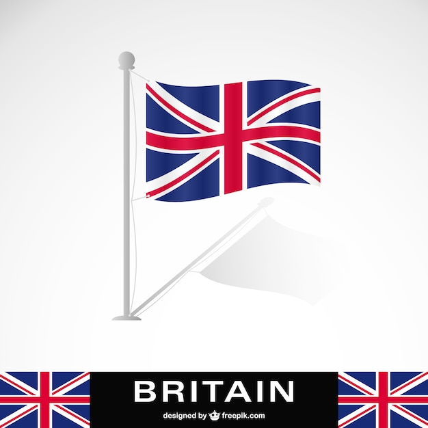 Britain flag Free Vector