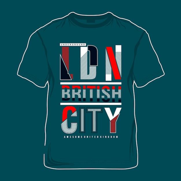 Британская художественная графика t рубашка Premium векторы