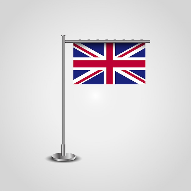 British flag design vector with flag frame Vector | Premium Download