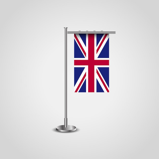 British flag design with flag frame vector Vector | Premium Download