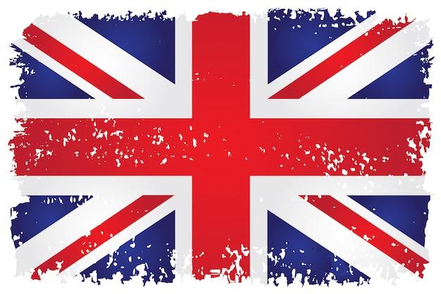 グランジスタイルのイギリスの旗 Premiumベクター
