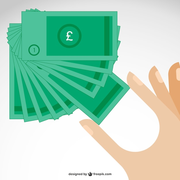 British pound sterling banknotes Free Vector