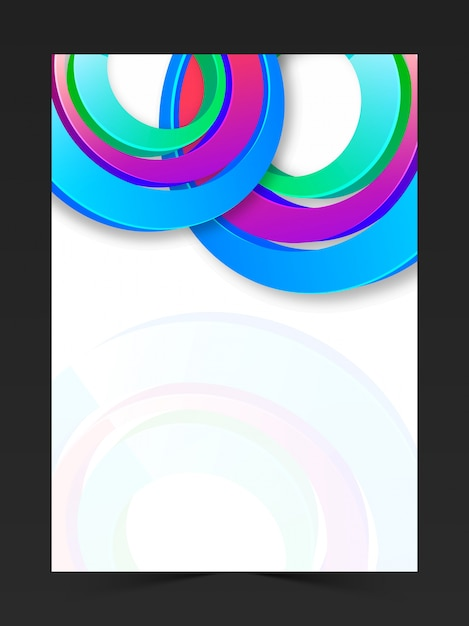 brochure background booklet colorful blank vector free download