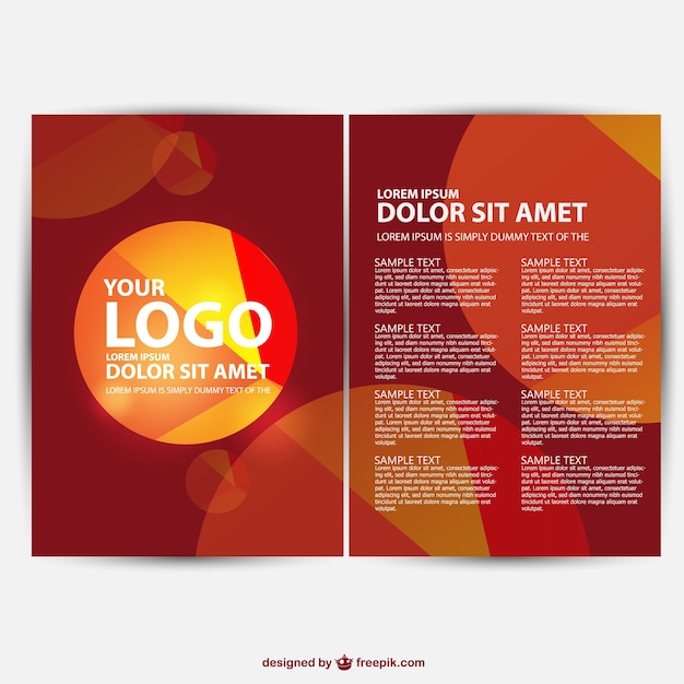 brochure background free vector free download