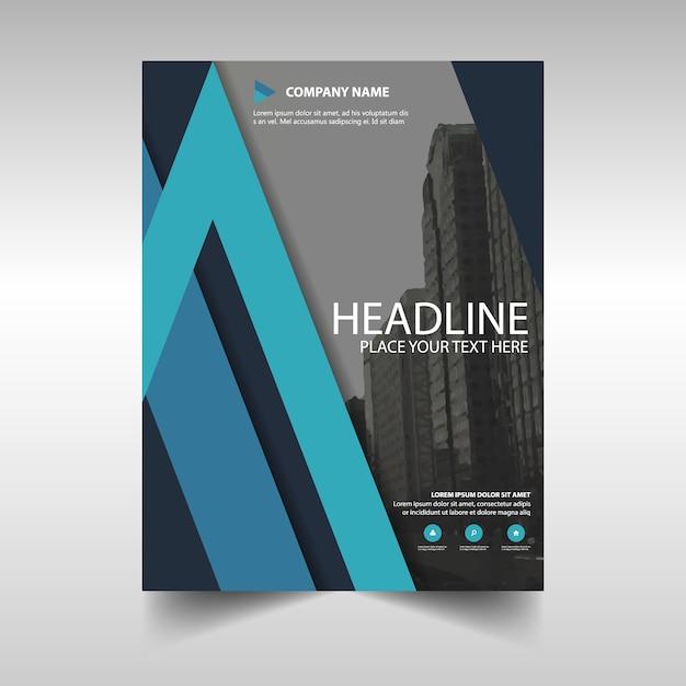 brochure  blue theme vector