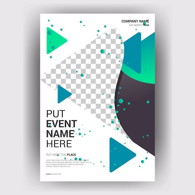 Brochure business magazine with layout geometric concept Premium Vector