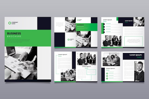 Layout del modello di business brochure Vettore gratuito