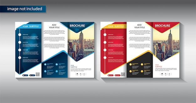 Brochure business template for promotion marketing company Premium Vector