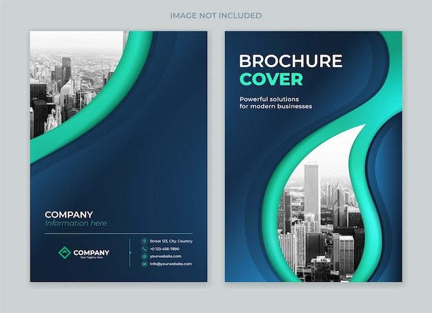 Premium Vector | Brochure cover design front and back template