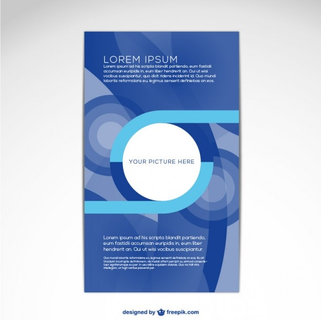 brochure cover template free vector